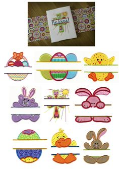 Embroidery | Split Applique Embroidery Designs | Easter Split Applique