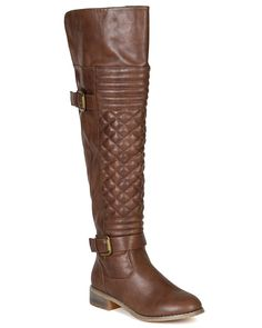 Nature Breeze BF20 Women Leatherette Quilted Knee High Riding Boot - Brown >>> Read more  at the image link.