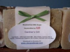 Get ready to get out in that garden - this soap will scrub all that dirt away - visit www.cleogoatsoap.com
