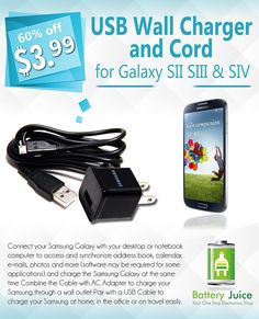 AC Home Wall Charger+USB Cable for Samsung Galaxy S2 S3 II i9100 SGH-T989 i777 DON'T WORRY! SHIPS SAME DAY/NEXT DAY FROM PHX, AZ!