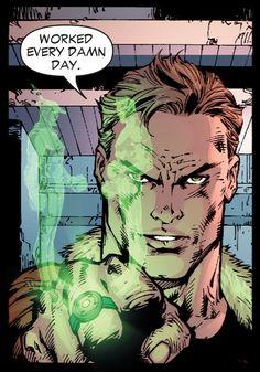 Hal Jordan in Justice League of America (2006) #1 by Ed Benes & Sandra Hope.