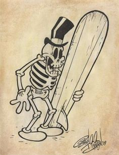 """""""Skeleton Surfer"""" by Shawn Dickinson"""