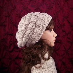 Hand knit hat  rippled beehive hat  your ❤ by SandyCoastalDesigns, $40.00