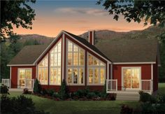 Prefab homes and modular homes in Canada: Groupe Pro-Fab Source by beautifulhouses Prefab Cottages, Prefabricated Houses, Prefab Homes, Construction, Modular Homes, Ground Floor, My Dream, Sweet Home, Canada