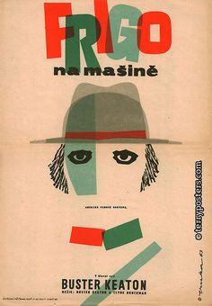 Authors: Fuka, Vladimír   Origin of film: USA   Year of poster origin: 1963   Director: Buster Keaton