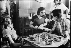 filming a scene in Taxi Driver, 1976