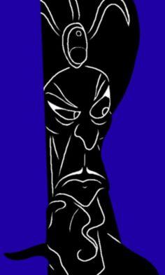 Jafar b+w by ~Amy-Donkey on deviantART