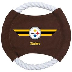 Pittsburgh Steelers Rope Frisbee Dog Toy #PittsburghSteelers Visit our website for more: www.thesportszoneri.com