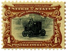 Codex Philately: The 4 cent Automobile red-brown and black / Le 4 cent voiture…