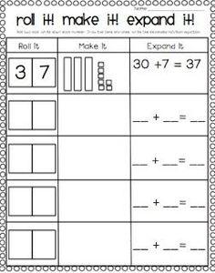 freebie tens ones place value worksheets first grade math pinterest worksheets math and. Black Bedroom Furniture Sets. Home Design Ideas