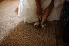 Brides shoes. Contemporary wedding photographer, Yorkshire www.toastofleeds.co.uk