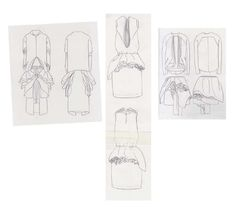 Fashion Sketchbook - fashion drawings; dress sketches; fashion portfolio // Valeska Collado