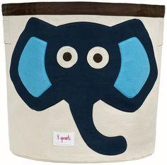 elephant storage bin (navy)