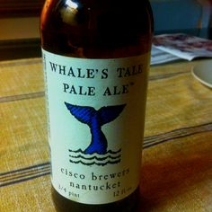 Whale's Tale Pale Ale from the Cisco Brewers in Nantucket - not my usual kind since a lot more bitter than my fave belgian productions but really gor used to it