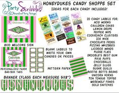 Honeydukes Candy Shop Package for Harry Potter Candy, Harry Potter Halloween, Harry Potter Room, Harry Potter Theme, Harry Potter Birthday, Honey Dukes, Harry Potter Printables, Candy Labels, Frozen