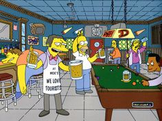 Moe's Tavern- The Simpsons