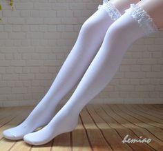 Frilly Socks, Lace Socks, Boot Socks, Fishnet Socks, Fishnet Stockings, White Thigh High Socks, Thigh Socks, Long White Socks, Knee High Socks Outfit