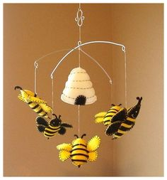 Yellow Bumble Bee Wall Hook Cast Iron Nursery Decor Childrens Decorative Key Towel