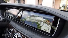 Touch screen of the latest interior design of Mercedes Benz S Class by Erinna Aeril