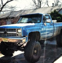#tricked out Blue #chevy #truck