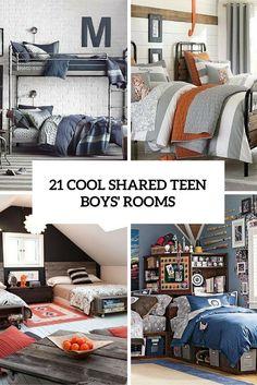 21 Cool Shared Teen Boy Rooms Décor Ideas
