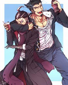 Gundam Tanaka and Nidai Nekomaru.