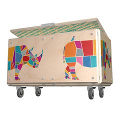 Colorful toy storage ideas - Drift Studio Rhino Toy Storage Chest