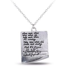 "To all grey's anatomy fans this is something you're going to love! The pendant in the shape of little post-it has recorded over the declaration of marriage: ""We love each other, even when we hate each"