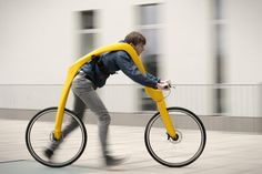 FLIZ is a design concept for a pedal-less bike that the rider propels by running. The bike frame suspends the rider above the ground so they can run with ease, a benefit that may prove useful for people with mobility problems. Designers Tom Hambrock and Yuri Spetter drew their inspiration from the Laufmaschine, an early 1800s precursor to the bicycle.