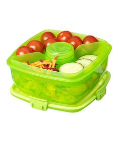 Another great find on #zulily! Sistema Green Salad-to-Go Container - Set of Two by Sistema #zulilyfinds