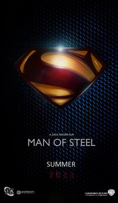 Man of Steel Movie Poster- looking forward to this one!