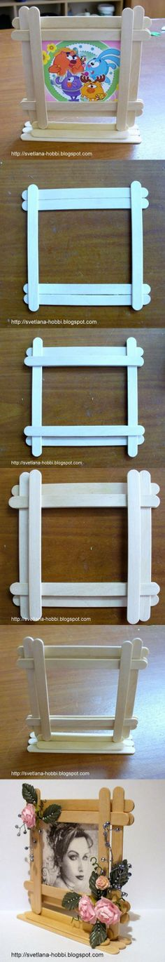diy, popsicles, photo frame, tutorial