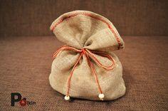Упаковка для пазла в подарок (льняной мешочек ручной работы)