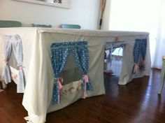 Faded White Linen: Indoor Cubby House Fun