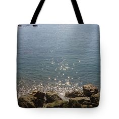 """Sparkly Way To The Horizon Tote Bag 18"""" x 18"""" by Rumyana Whitcher"""
