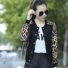 Leopard Thin Bomber Jacket