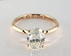 1.7ct Oval Solitaire Engagement Ring in Yellow Gold - See it in 360 HD SuperZoom!