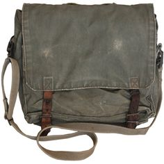 Vintage Messenger Bag, Army Canvas Shoulder Bag Hunting Camping... ($29) ❤ liked on Polyvore featuring bags, messenger bags, army canvas messenger bag, vintage messenger bag, shoulder hand bags and courier bag
