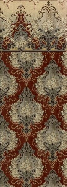 Primrose Damask - Historic Wallpapers - Victorian Arts - Victorial Crafts - Aesthetic Movement