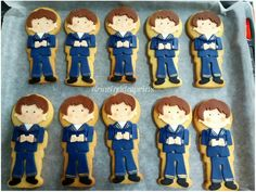Galletas de comunión para niños Fallout Vault, Boys, Fictional Characters, Art, Custom Cookies, Baby Boys, Art Background, Kunst, Performing Arts