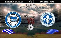 Hertha Berlin vs Darmstadt 21.12.2016 Preview and Predictions-PPsoccer