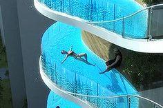 glass swimming pools - Google Search