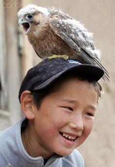 Kyrgyz golden eagle hunters
