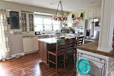 DIY white kitchen with farmhouse sink-www.goldenboysandme.com