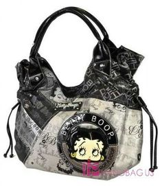 betty boop bags and purses | NWT Licensed BETTY BOOP FACE PATCHWORK STRING HOBO PURSE BAG HANDBAG ...