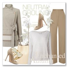 """""""Cool Neutrals"""" by andrejae ❤ liked on Polyvore featuring Jacques Vert, Gianvito Rossi, The Row, Creatures of Comfort, Robert Lee Morris, Le Kasha and neutrals"""