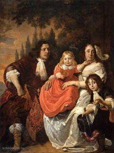 """Painting """"De Reepmaker Familie van Amsterdam"""" by Bartholomeus van der Helst - www.schilderijen.nu"""