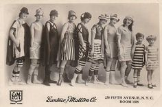 Gantner & Mattern Co. NYC - This image is from a 1906 mailing card used for adve., Beach Outfits, Gantner & Mattern Co. NYC - This image is from a 1906 mailing card used for advertising. The note on the back said the card was considered flawed for . Edwardian Fashion, Vintage Fashion, Edwardian Style, 1920s, Suits Season, Vintage Swim, Vintage Bikini, Vintage Girls, Bathing Costumes