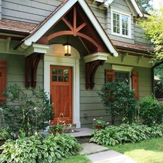 Craftsman portico side door maybe off onto the back deck for Front doors for cape cod style homes
