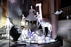 Working with the department store's in-house events team, the producer created a series of fantastical vignettes designed to evoke the spirit of the retailer's Fifth Avenue window displays.